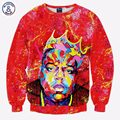Mr.1991INC America Fashion Men/women 3d sweatshirt red color print Rapper Christopher Wallace slim music long sleeve hoodies