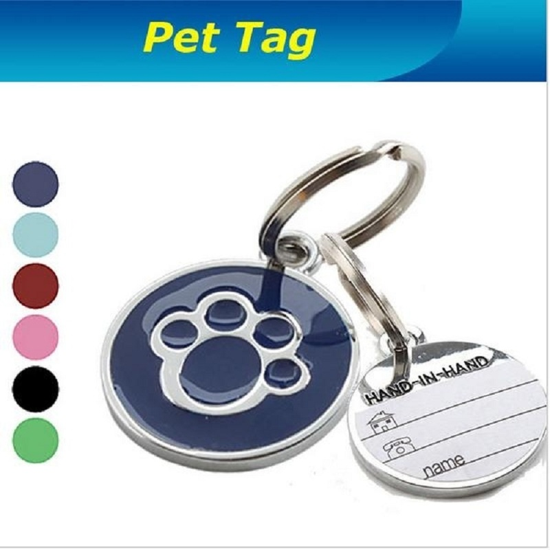 US $0 67 27% OFF|1PC Beautiful Pet Pendant Decorative Card Anti Lost Pet  Dog Cat Name Address Label Tag Pet ID Identity Card Dog Collar-in ID Tags