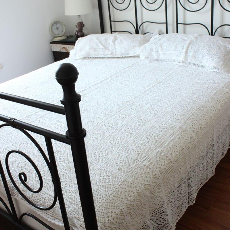 ₪100% algodón copia crochet Colchas almohada ganchillo colcha ...
