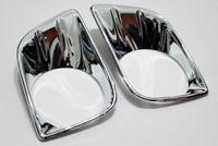New 1 Pair Chrome Front Fog Light cover trim For Toyota Prado FJ150 2010 2011 2012