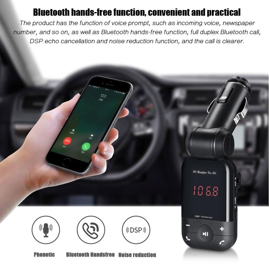 2017 12 V-24 V Auto Stereo Bluetooth Freisprecheinrichtung Fm Sender U Scheibe Tf-karte Mp3 Musik-player Voiture Bluetooth Telefon Hochwertige Materialien