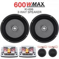 6.5 Inch 2 Way 12V 600W Universal Car Speaker Subwoofer Treble Midrange Bass Speaker Loudspeaker Component System