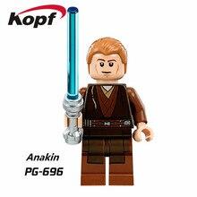 Building Blocks Star Wars Single Sale Anakin Finn Stormtrooper Yoda Luke Skywalker Bricks Action Figures Toys for children PG696