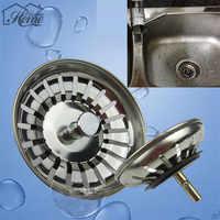 8cm 1 Uds. Fregadero de cocina tapón de filtro de acero inoxidable tapón de desecho agujero del Fregadero herramienta casera Fregadero Tapon del filtro supply