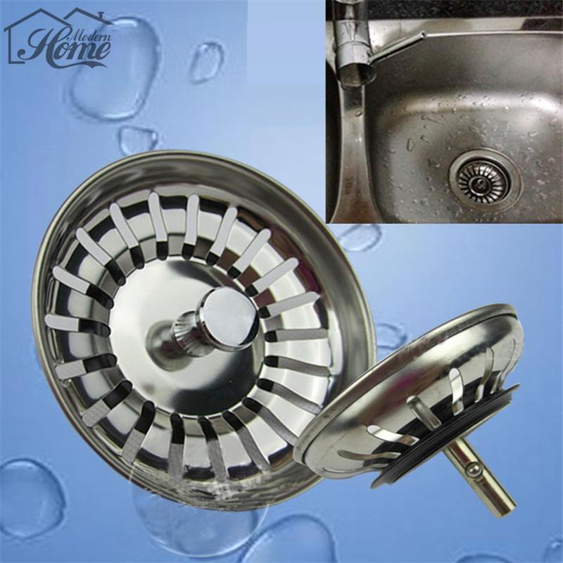 8cm 1 Uds filtro para desagüe de Fregadero de cocina de acero inoxidable tapón de residuos Fregadero agujero filtro hogar herramienta Fregadero tapón del filtro supply