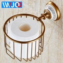 Toilet Paper Holder Antique Brass Ceramic Paper Towel Holder Rack Wall Mounted Bathroom Tissue Roll Paper Holder Rack Creative недорого