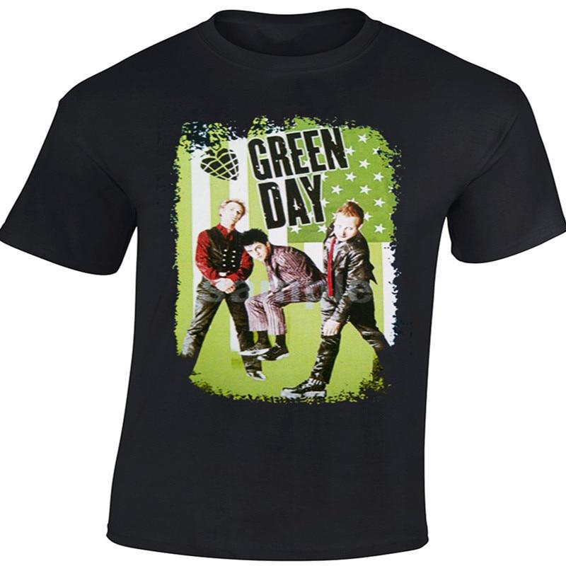 High Quality Men 39 S Rock Pop Band T Shirts Printing Green