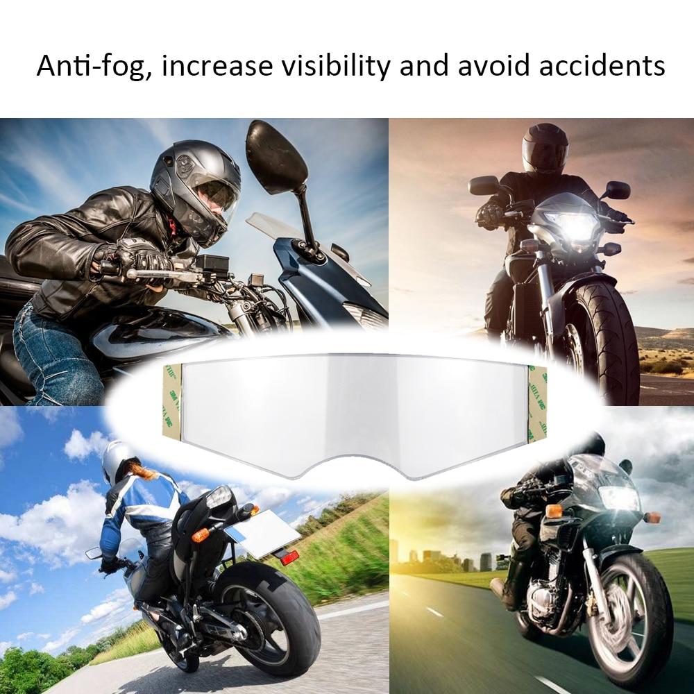 Motorcycle Helmet Lens Universal Anti-fogging Film High Definition Transparent Safety Len Films Accessories