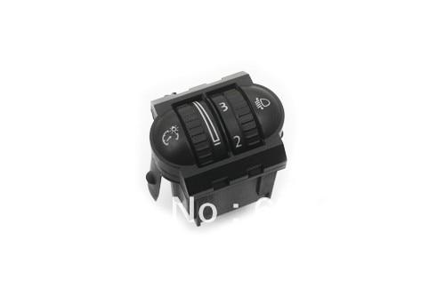 Rhéostat d'éclairage d'instrument et commutateur de réglage de phare pour VW Volkswagen Golf Jetta MK5