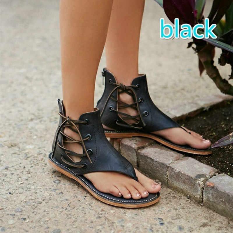 bbee3f28e520 ... 2018 Cross Skull Flat Sandals Women Summer Shoes Roman Style Fashion  Sandals Shoes Women Flat Sandals ...