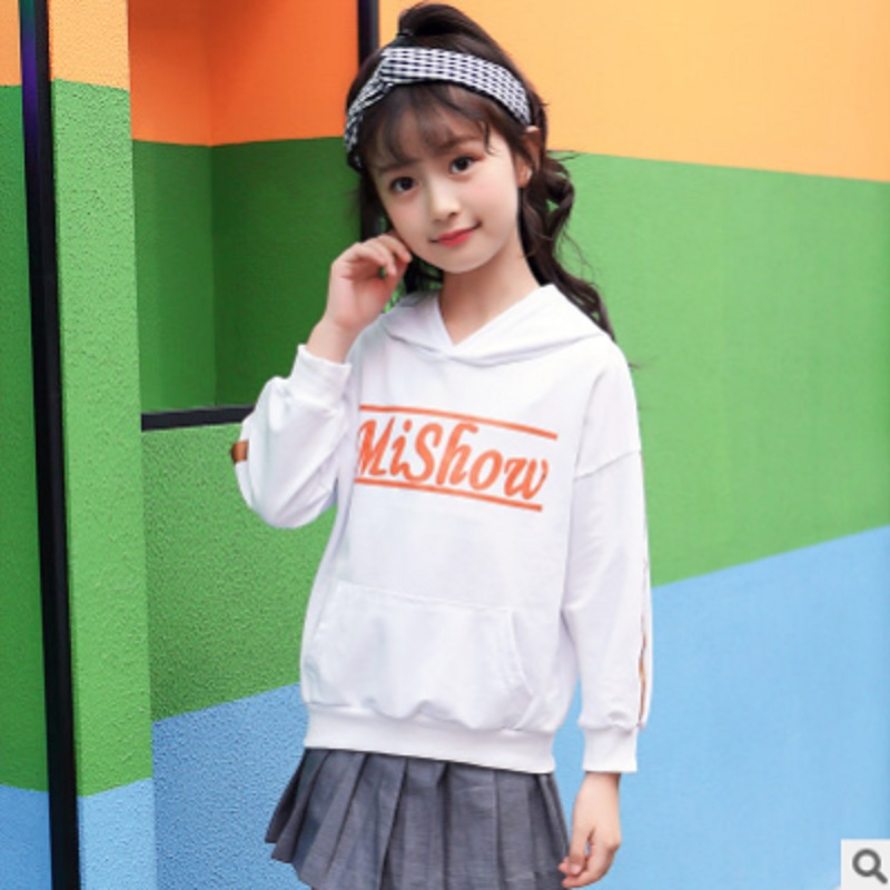 Childrens Hoody Girls T-shirt 2019 New Spring and Autumn Kids Long Sleeve Fashion Leisure Hoodies 2 Letter Color Size4-14 ly195Childrens Hoody Girls T-shirt 2019 New Spring and Autumn Kids Long Sleeve Fashion Leisure Hoodies 2 Letter Color Size4-14 ly195