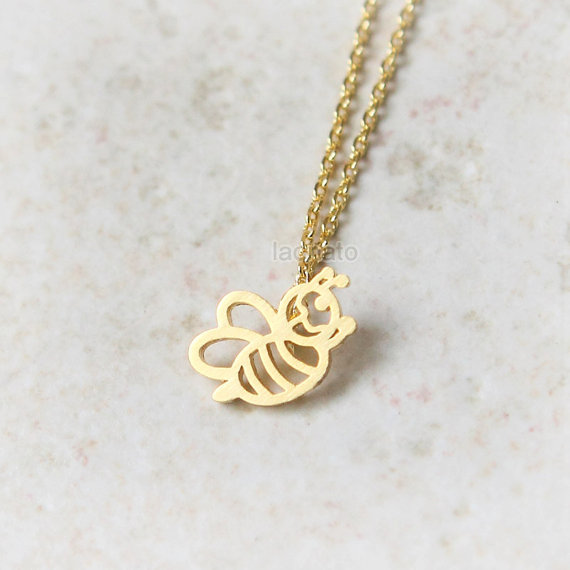 Fashion cute honey bee necklace gold silver honey bee pendant fashion cute honey bee necklace gold silver honey bee pendant necklace women collier in pendant necklaces from jewelry accessories on aliexpress aloadofball Images