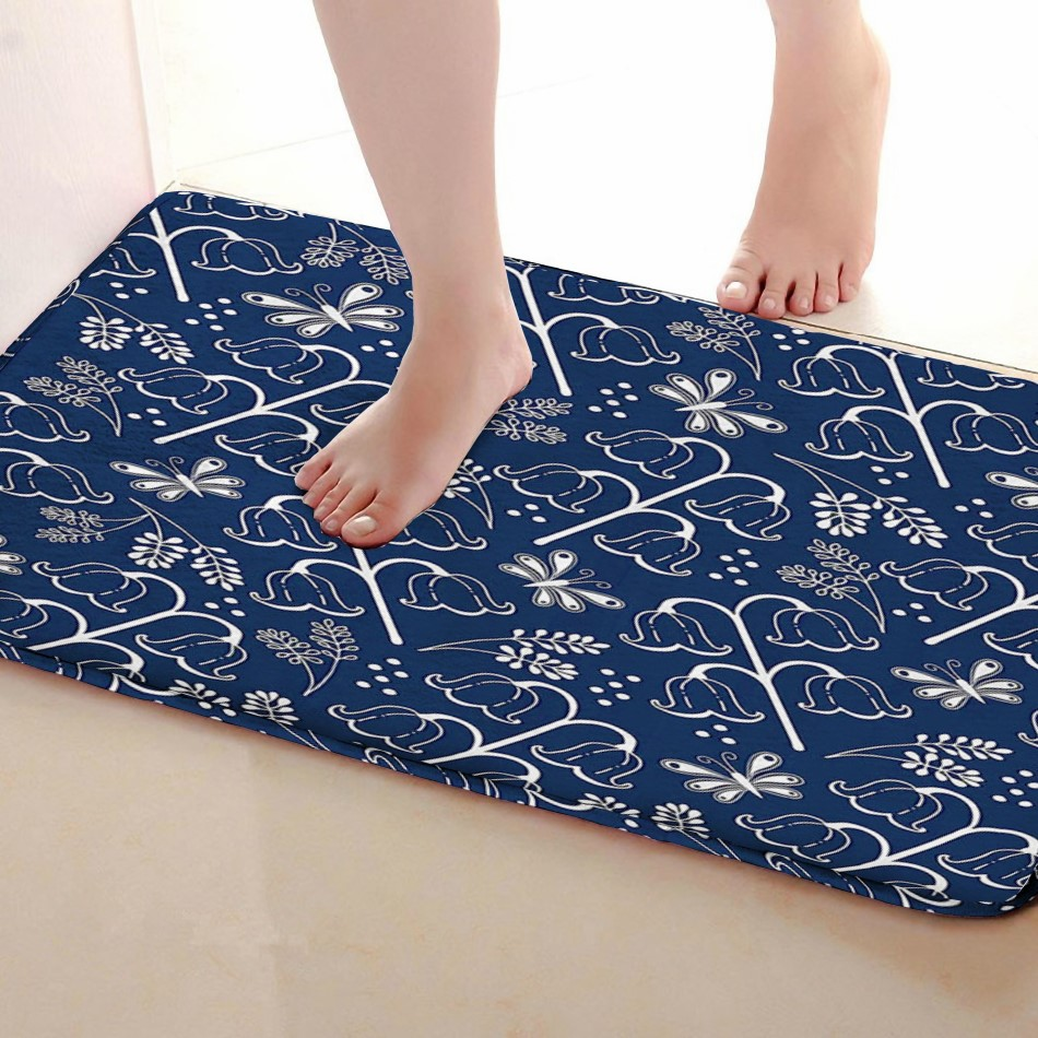 Fuwa flower Style Bathroom Mat,Funny Anti skid Bath Mat,Shower Curtains Accessories,Matching Your Shower Curtain