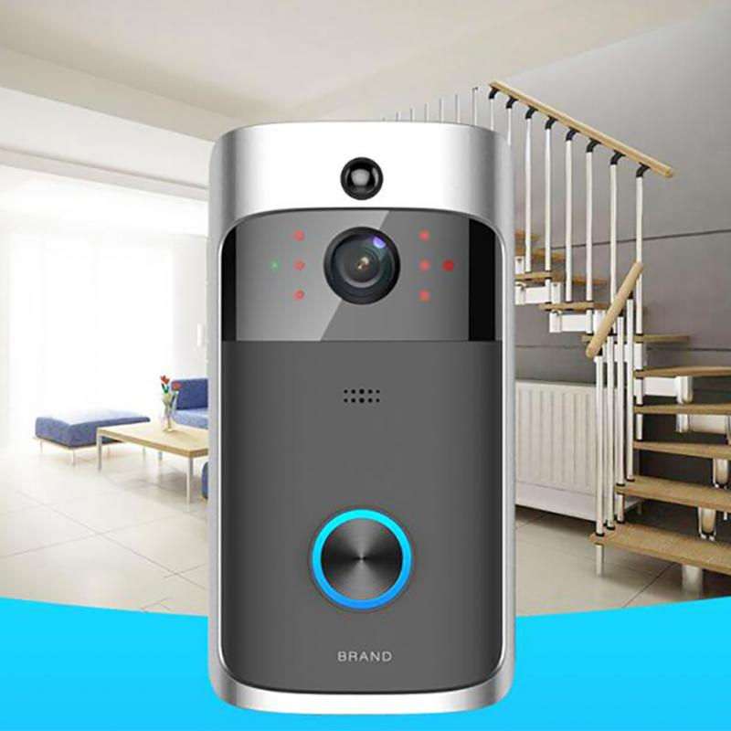Wi Fi визуальный дверные звонки беспроводной звонок с телефонной связью ПИР обнаружения движения Ночной вид безопасности камера видео Smart ко...