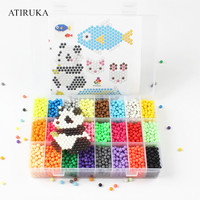 24Color Water Spray Beads 3D Puzzle Toys Hama Beads Jigsaw Puzzle Brinquedos for Children Educational Toys 4800Pcs/Set Speelgoed