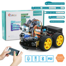 Emakefun Voor Arduino Robot 4WD Cars App Rc Afstandsbediening Bluetooth Robotics Learning Kit Educatief Stem Speelgoed Voor Kinderen Kid(China)