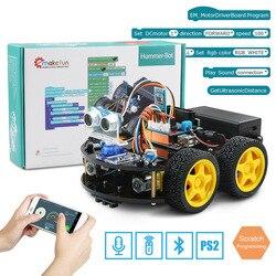 Emakefun para Arduino Robot 4WD coches APP RC Control remoto Bluetooth robótica Kit de aprendizaje juguetes educativos para niños chico