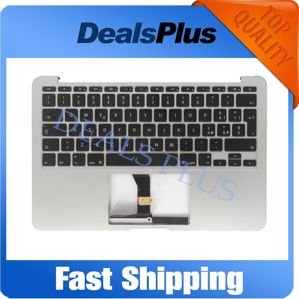 New For Macbook Air A1370 A1465 Palmrest Top case with Italy keyboard No Touchpad 2012 YearNew For Macbook Air A1370 A1465 Palmrest Top case with Italy keyboard No Touchpad 2012 Year