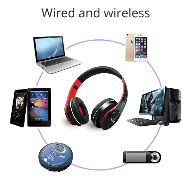 UYG bluetooth headphone wireless headphones stereo headset handsfree answer with Microphone TF Card mp3 FM Radio for smartphone
