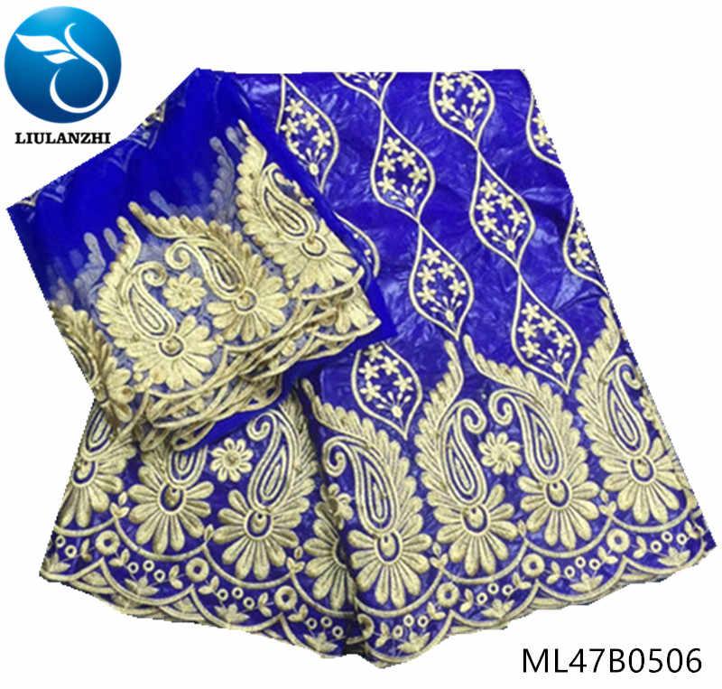 LIULANZHI bazin ткань кружева синий riche getzner хлопок для свадебного платья с 2 ярдов