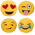 32cm Car Interior Accessories Round Emoji Smiley Emoticon Cushion Pillow QQ Stuffed Plush Toy Doll Seat Supports Free Shipping