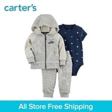 Carter s 3 Piece baby children kids clothing Boy Spring Fall Cotton Mustache Little Jacket Set