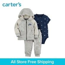 Carter's 3-Piece baby children kids clothing Boy Spring & Fall Cotton Mustache Little Jacket Set 127H179
