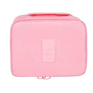 Image 5 - Саржевый цветочный сетчатый косметический пакет для путешествий портативный квадратный куб Органайзер для макияжа Organizador Penteadeira Kutu Pendientes
