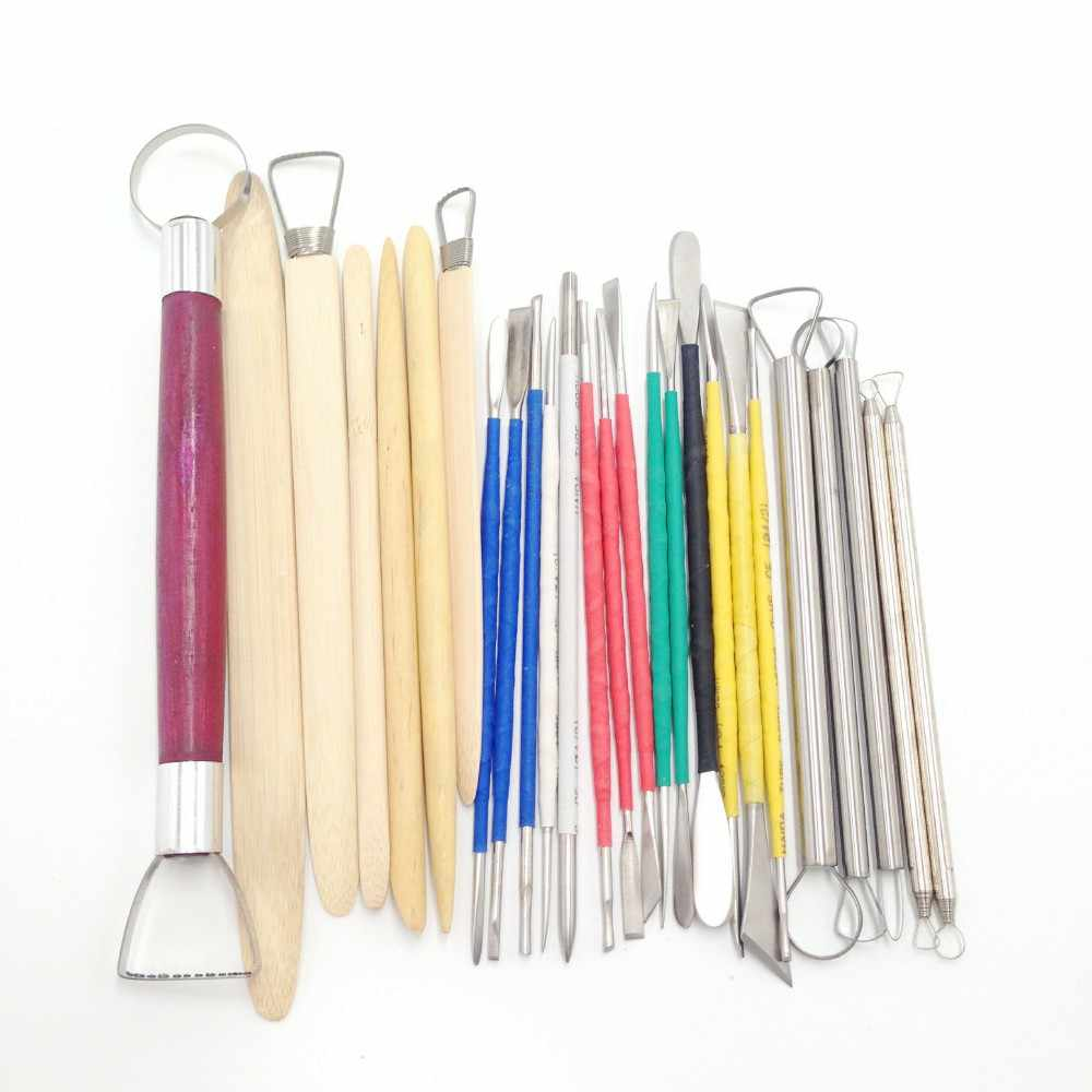 26pcs/Set Ceramic Model Home Craft Art Pottery Clay Carving Cutter Modelling Sculpting Tools Handwork