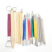 26pcs/Set Ceramic Model Home Craft Art Pottery Clay Carving Cutter Modelling Sculpting Tools Handwork(China)