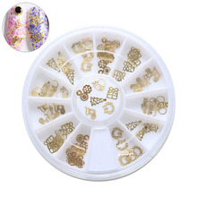 60pcs/1box new nail art 6 style mixed Christmas series Alloy nail jewelry,Uv Gel DIY finger design accessories decorations tool