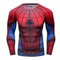2016New Fitness Compression Tops & T-shirts Men Superman Captain America Batman Spiderman Iron Man tshirt Gentle Clothing
