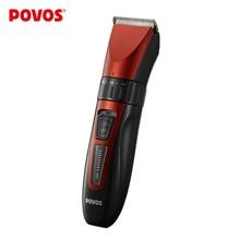 POVOS profesyonel elektrikli saç düzeltici şarj edilebilir berber kesme Seramik titanium kafa saç kesme makinesi