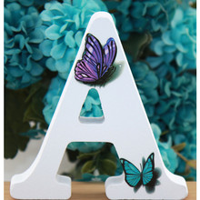 Деревянные буквы в форме животных ручной работы, свадебные бабочки, декоративные буквы алфавита, буквы с именем, дизайнерские художественн...