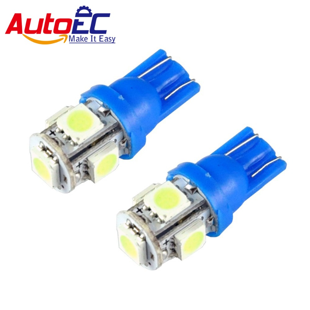 Autoec 10 шт. T10 5 LED SMD 5050 158 168 194 W5W автомобиля чтения показаний номерных знаков свет лампы 12 В Ice Blue # LB92