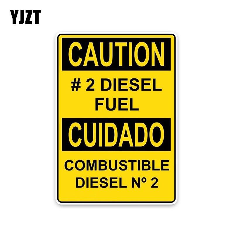 Yjzt 11*15.7 см личности внимание #2 дизельного топлива горючих... Предупреждение признаки ПВХ Графический автомобиля Стикеры наклейка c1-8307