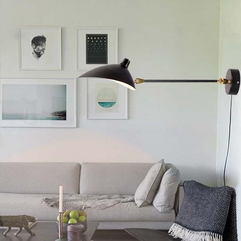 Applique nordique Simple grenier longue applique murale créative étude lampe personnalité canard Bill lumière moderne classiques salon lampes - 4