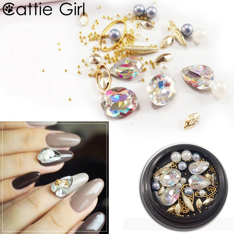 1box Nail Stone Japanese Nail Design Agate Rhinestones Decoration Tips Nail Art Crystal Holographic AB Chameleon Deco for UV Gel