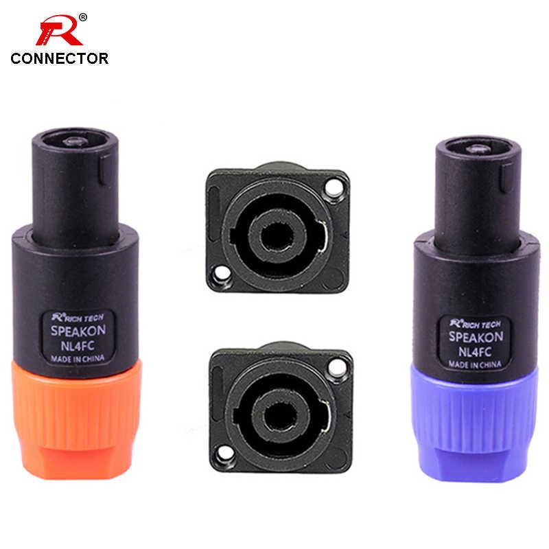 1 zestaw NL4FC złącza Speakon typ 4 wtyczka biegunowa męskie złącze audio głośnika