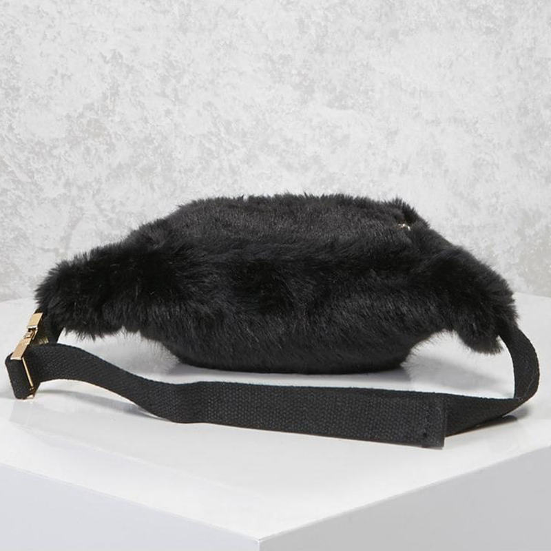 6c787e7e667a1 ARPIMALA Women Faux Fur Fanny Pack White Black Fur Chest Bag Small ...