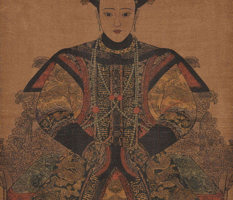 Exquisite Chinese classical scroll painting Qing Dynasty Empress quot Jia shun quot in Painting amp Calligraphy from Home amp Garden