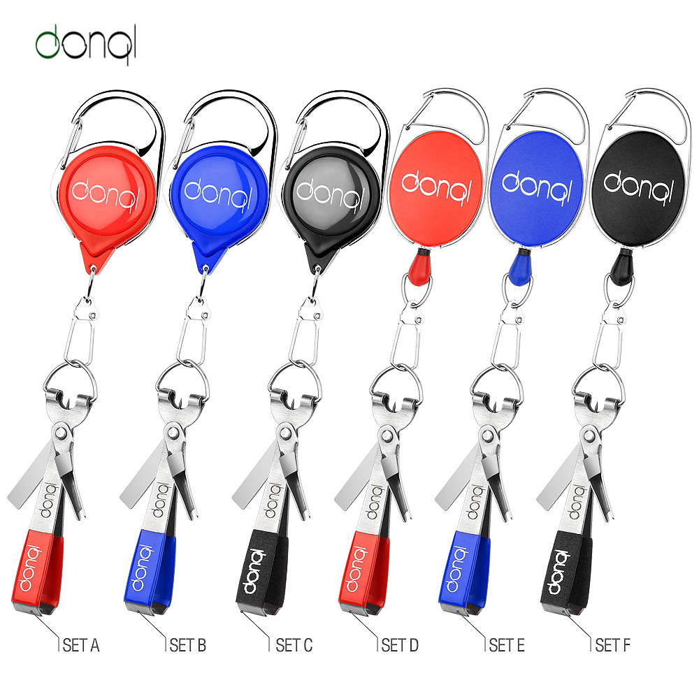 DONQL Fishing Quick Knot Tool Fast Tie Nail Knotter Line Cutter Clipper Nipper Hook Sharpener Fly Tying Tool Fishing Tackle Gear