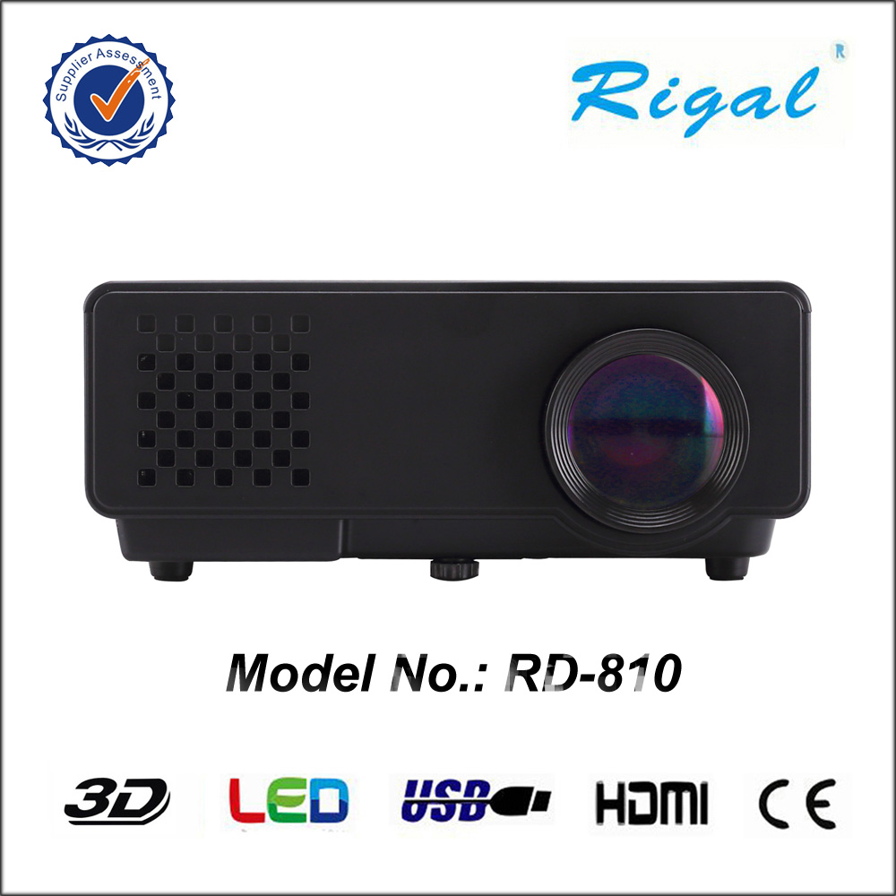 Rigal RD-810 Mini Projector 1000 Lumens LCD Portable 800*480 Pixel projector 1080p 720p home use theater projector 4 inch gp10 800 lumens portable mini projector home theater led