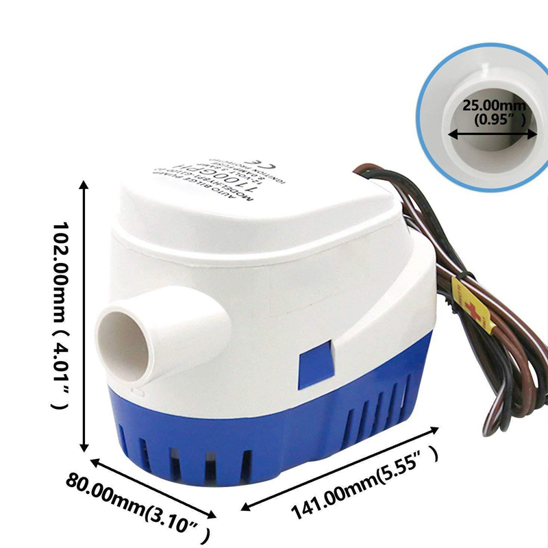 Automatic 12V 1100GBH Bilge Water Pump Submersible Pumps With Float Switch NJ88