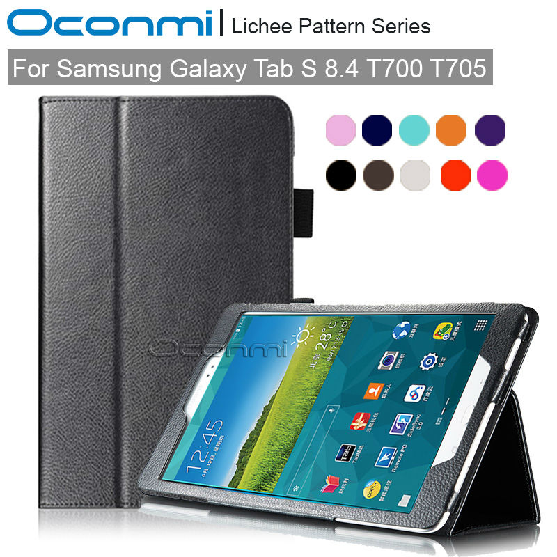 PU leather Smart case for Samsung Galaxy Tab S 8.4 T700 T705 slim magnet cover for Samsung Tab S 8.0 SM-T700 SM-T705 case luxury folding flip smart pu leather case book cover for samsung galaxy tab s 8 4 t700 t705 sleep wake function screen film pen