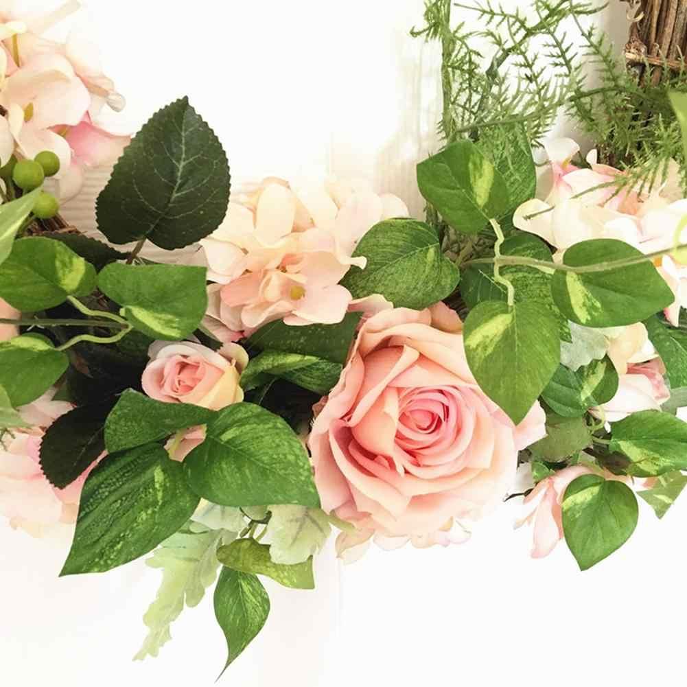 Hoa Giả Hoa Hồng Vòng Hoa Cửa Vòng Hoa Nhân Tạo Vòng Hoa Cửa Tiệc Cưới Trang Trí Nhân Tạo Treo Tường Hoa
