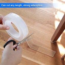 Fita de armazenamento em casa multifuncional dupla face adesivo nano fita traceless lavável removível fitas gel aderência adesivo ferramenta a