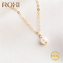 ROXI Boho Long Pearl Necklace Women Natural Freshwater Pendant 2019 Wedding Jewelry Gold Chain Statement