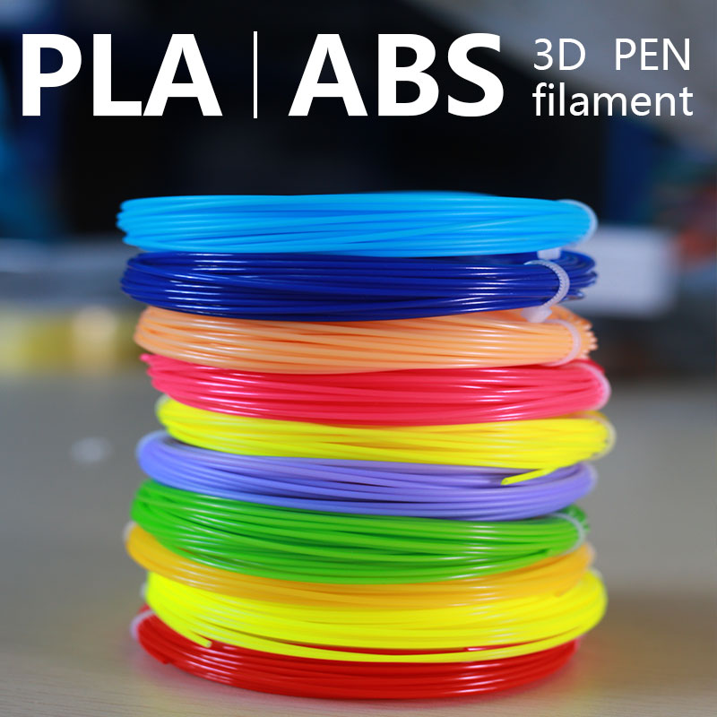 20colors Brilliant Color 3d Pen Filament 1.75mm 3D Filament Abs / Pla Natural Degradation Filament Fast Shipping Within 24 Hours