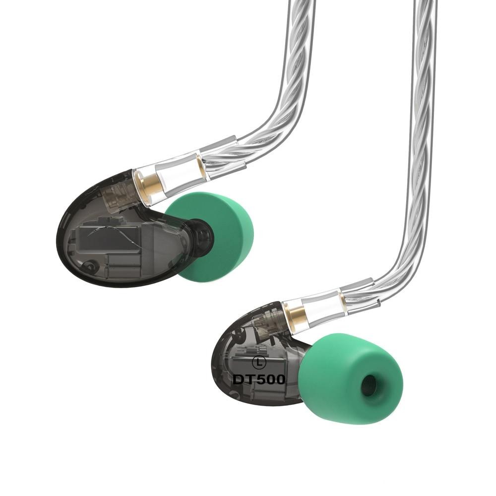 2018 NICEHCK DT500 5BA Drive In Trasduttore Auricolare Dell'orecchio 5 Balanced Armature Staccabile Staccare MMCX Cavo Febbre HIFI Sport del Monitor Auricolare